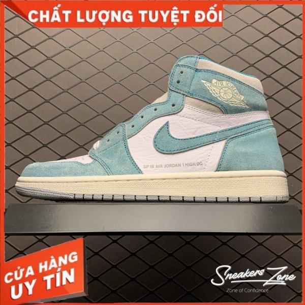(FREESHIP+HỘP+QUÀ) Giày Thể Thao AIR JORDAN 1 Retro High Turbo Green Xanh Ngọc Nhạt Cực Phong Cách