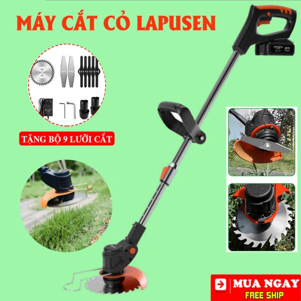 [ TẶNG BỘ 8 LƯỠI CẮT ] Máy cắt có tỉa cành LAPUSEN  -  Máy cắt có chạy pin - Động cơ 100% lõi đồng nguyên chất - Mát cắt cỏ, cắt cây