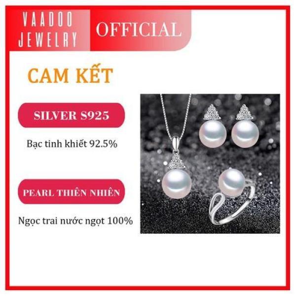 Bộ trang sức ngọc trai Sparkling làm quà tặng Thương hiệu Ngọc trai Vaadoo Jewelry - BTS09