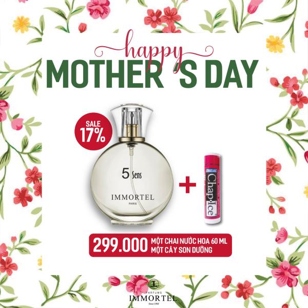 Quốc Tế Phụ Nữ .Khi mua nước hoa IMMORTEL PARIS 60ml bất kỳ được tặng Son dưỡng môi Mỹ OraLabs