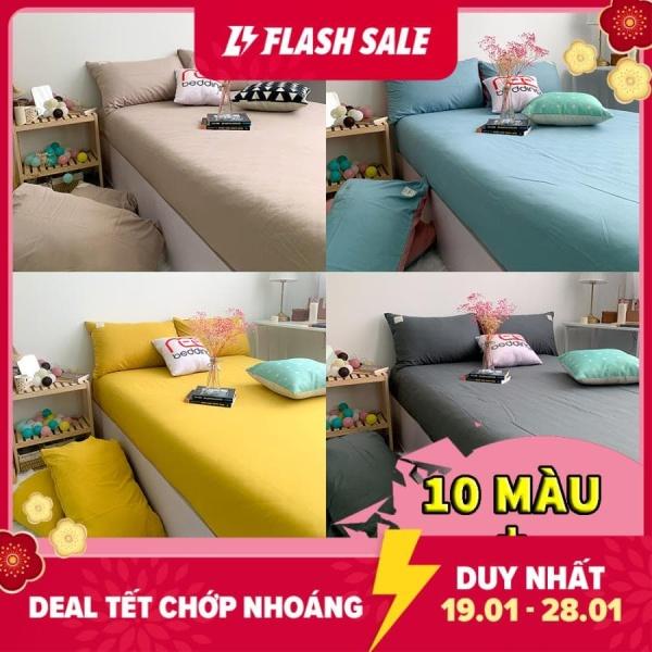Bộ ga giường và vỏ gối REE Bedding đủ size 1m2, 1m4, 1m6,1m8, 2m CTC33 chưa gồm vỏ chăn