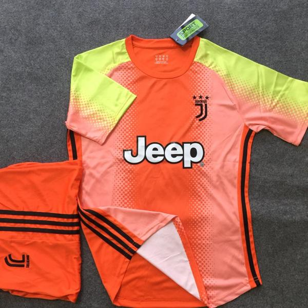 Quần áo bóng đá Juventus màu cam thun lạnh đẹp giá rẻ 2020