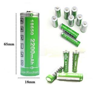 Pin sạc dự phòng 2200mAh pin 18650 pin năng lượng mặt trời pin sạc 2200mAh pin lithium 3v7 dùng cho đèn năng lượng quạt tích điện đèn tích điện và nhiều đồ gia dụng khác thumbnail