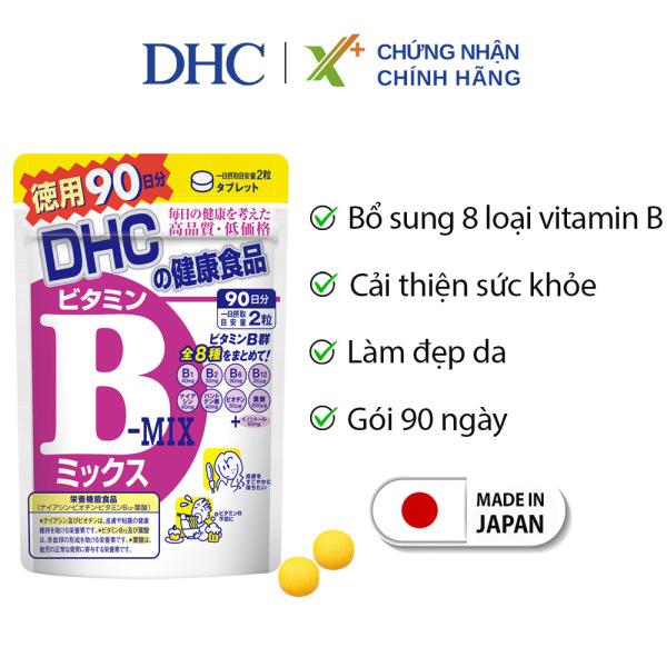Viên uống Vitamin B tổng hợp DHC Nhật Bản thực phẩm chức năng bổ sung 8 loại vitamin B tốt cho sức khỏe và sắc đẹp gói 90 ngày XP-DHC-MIX90