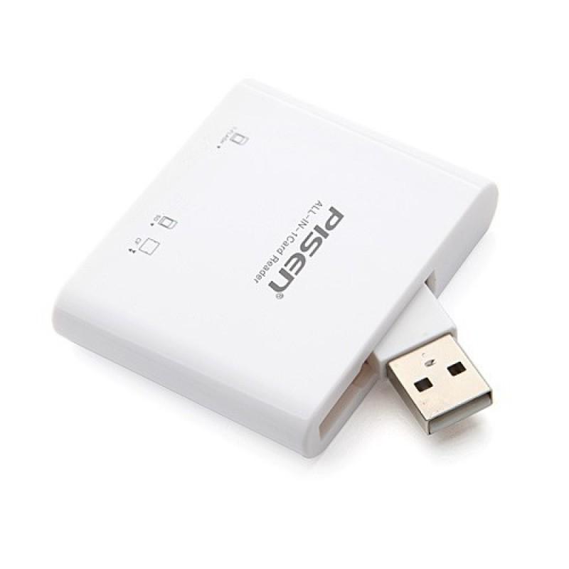 Đầu đọc thẻ Pisen All-In-1 USB 2.0 ( 3 Slots )