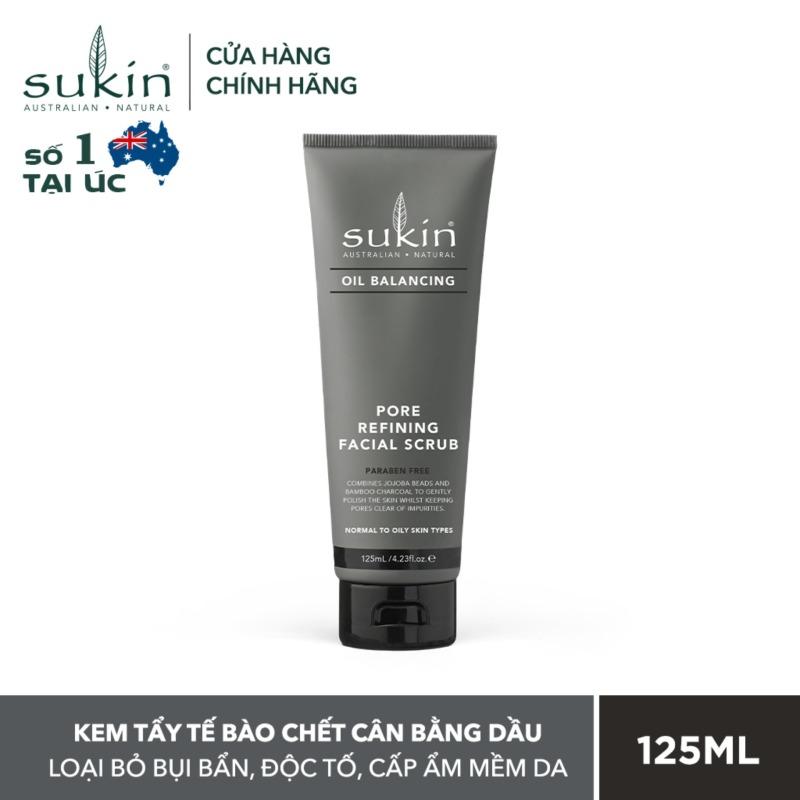 Kem Tẩy Tế Bào Chết Cân Bằng Dầu Sukin Oil Balacing Plus Charcoal Pore Refining Facial Scrub 125ml