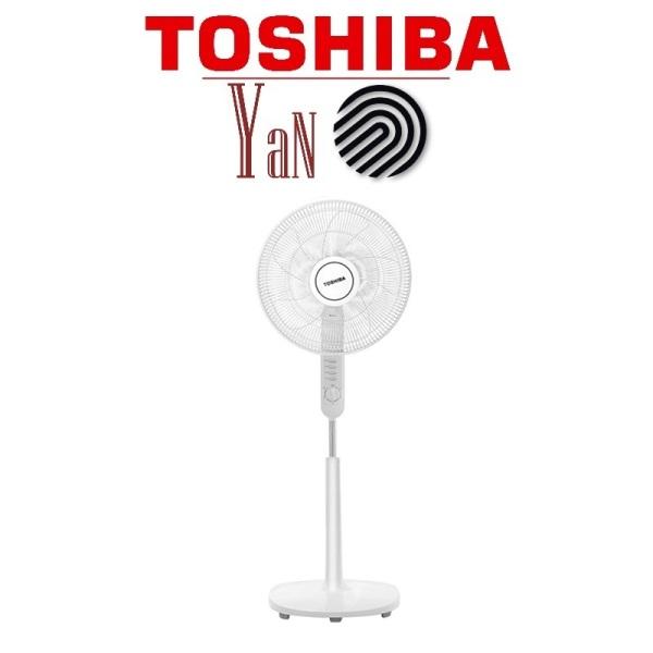 Quạt cây đứng 5 cánh 3 mức gió màu xám Toshiba F-LSA10(H)VN 50W - Hàng chính hãng