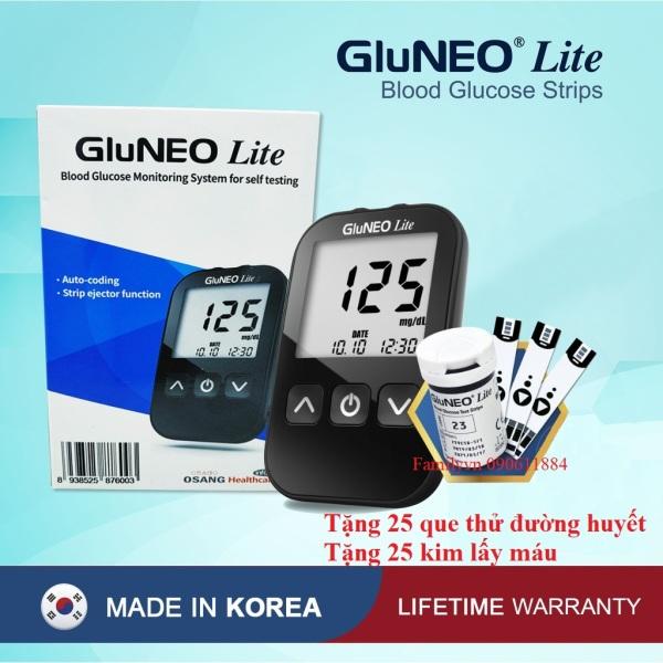 Máy Đo Đường Huyết GluNEO Lite - Tặng kèm 25 que thử đường huyết, 25 kim chích máu bán chạy