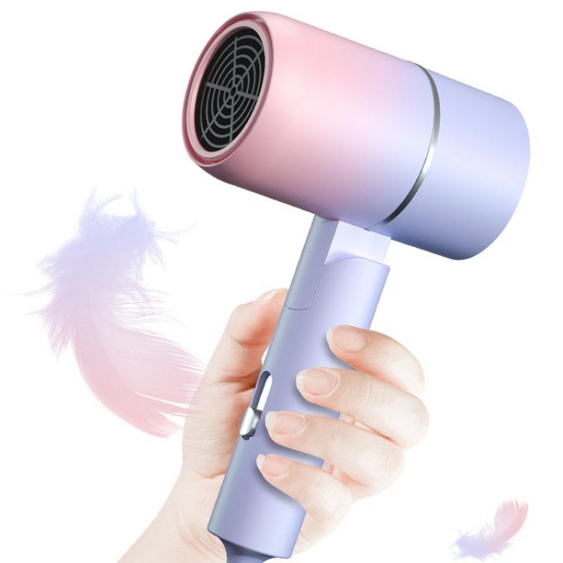 [HÀNG CHUẨN] Máy sấy tóc gia đình kiểu Hàn Quốc, máy sấy tóc Hair Drier 1200W với 2 cấp độ nhiệt lựa chọn, Máy xấy tóc tay cầm có thể gấp gọn, phát tia sáng xanh, ion hóa bảo vệ tóc, dưỡng tóc và tạo kiểu dễ dàng