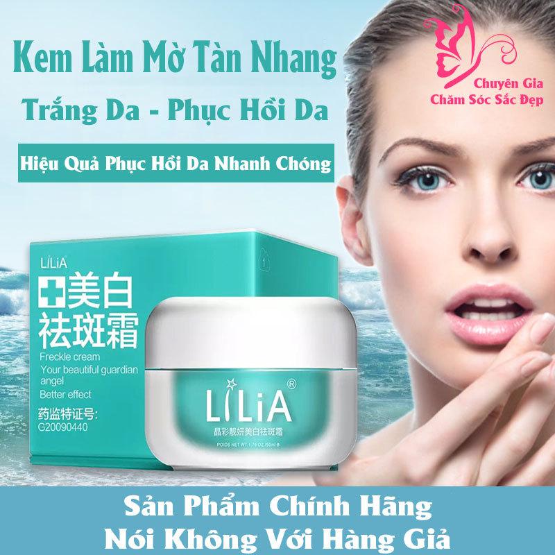 LiLiA Kem Trắng Da Chiết Xuất Thảo Dược Làm Mờ Sẹo Tàn Nhang Chống Nếp Nhăn Anti-aging Moisturizing Whitening Skin Care