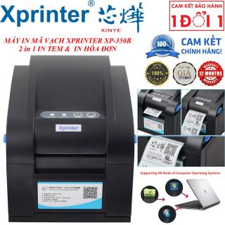 Quà Tặng Lên Tới 99K - Có video hướng dẫn cài đặt - MÁY IN MÃ VẠCH XPRINTER 350b (2 in 1 ) - In tem & In hóa đơn - Máy in mã vạch Xprinter XP-350B -Máy In Mã Vạch Xprinter XP-350B Cổng USB - Hướng dẫn cài đặt máy in Xprinter XP-350B có driver thumbnail
