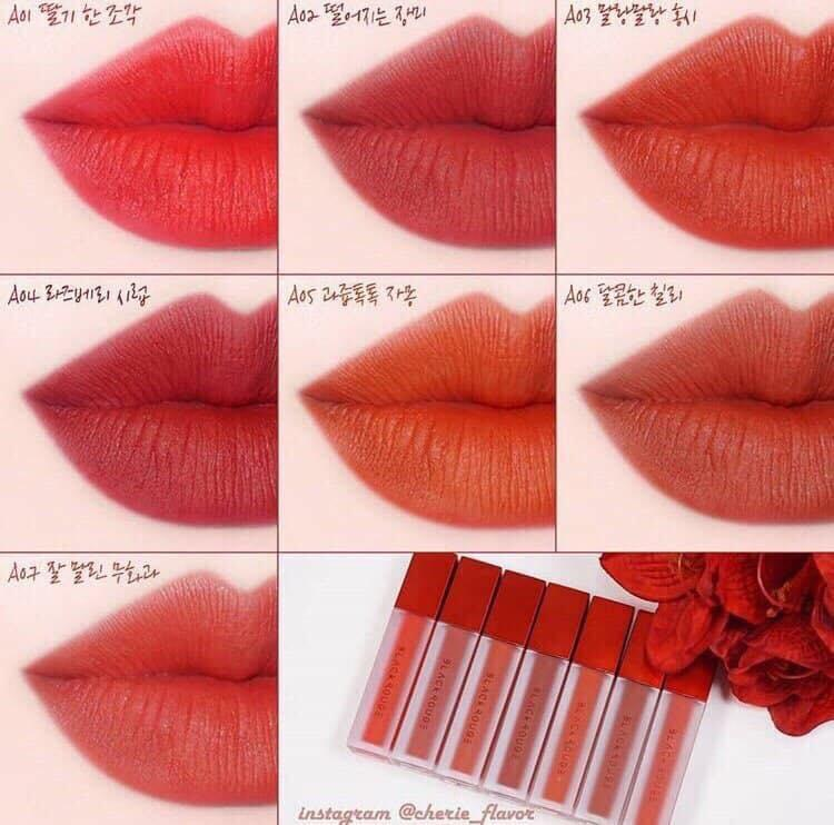 (AUTH) SON KEM LÌ SIÊU MỊN B'LACK ROUGE AIR FIT VELVET TINT VERSION 1, 2, 3 ( sẵn 17 màu)