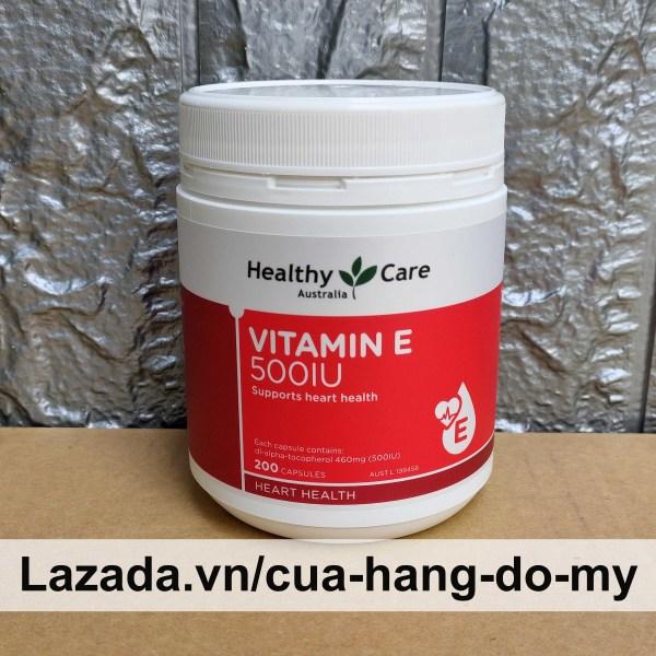 Viên Uống Vitamin E Healthy Care 500IU Hộp 200 Viên - Healthy Care Vitamin E 500 IU - Hỗ Trợ Đẹp Da, Móng và Tóc
