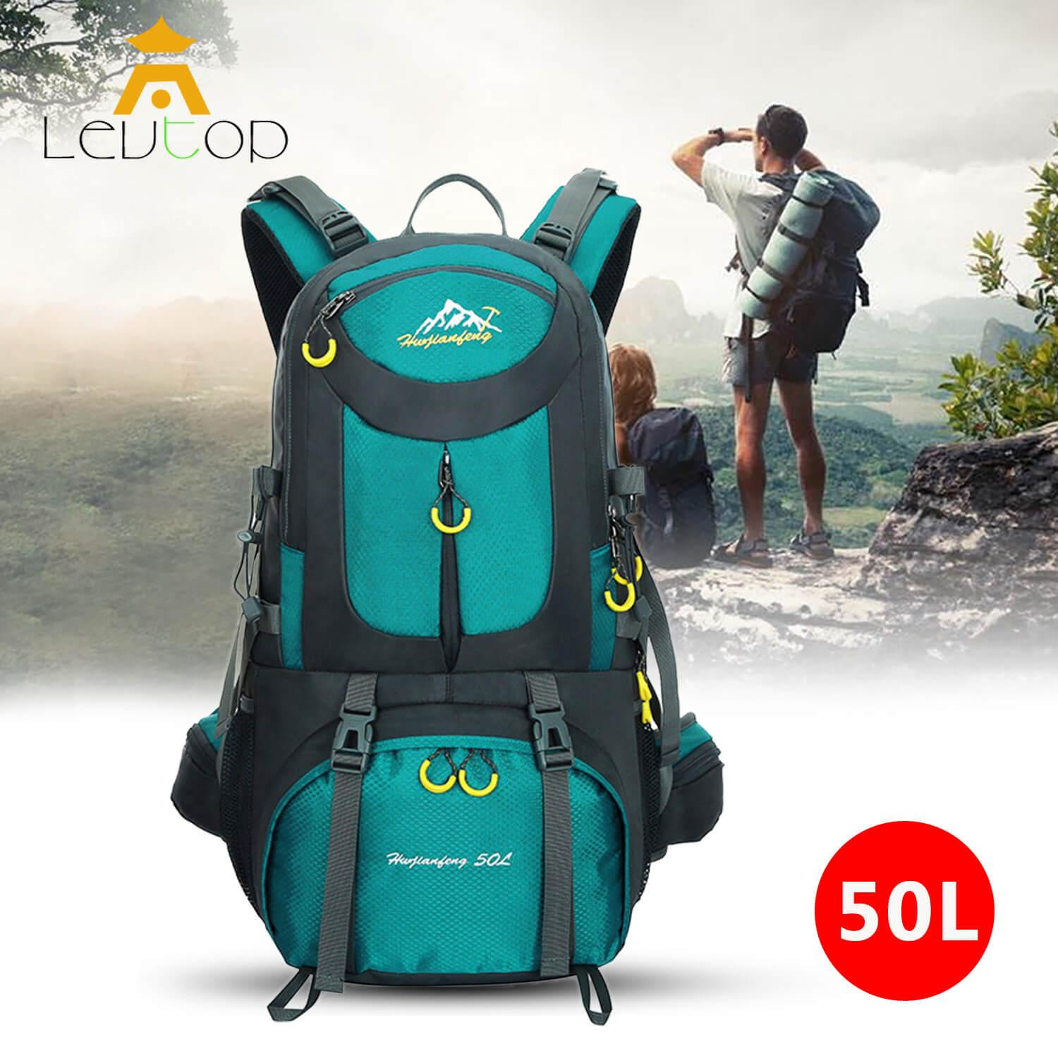 58205b1939 LEVTOP Outdoor Hiking Backpack Sport Camping Travel Shoulder Pack Bag Water  Resistant Mountaineering Climbing Backpacking Trekking