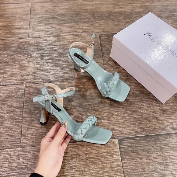 giày cao gót nữ 7 phân đế vuông quai ngang MH003 - Gót vuông dáng công sở - Giày cao gót nữ 7 phân đầy duyên dáng 2021 giá rẻ