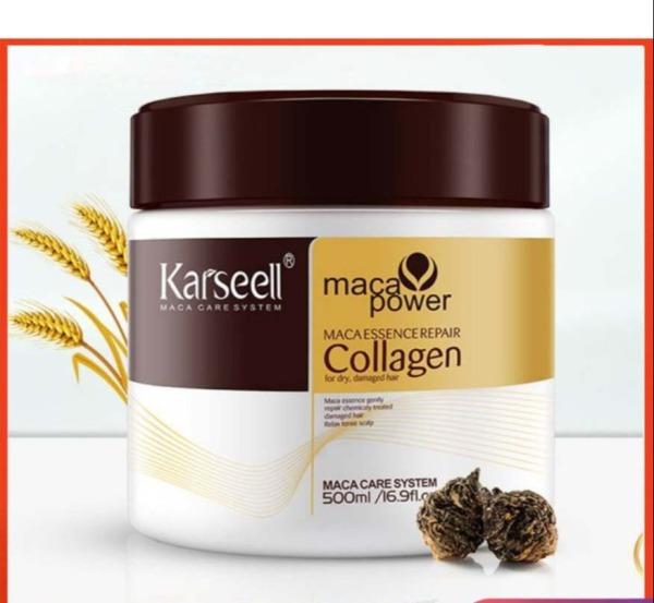 ✅Hấp Phủ Lụa Collagen Karseell Maca Siêu Mềm Mượt Tóc Ý 500ml ( Dạng hũ ) siêu dưỡng siêu phục hồi mềm mượt tóc giá rẻ