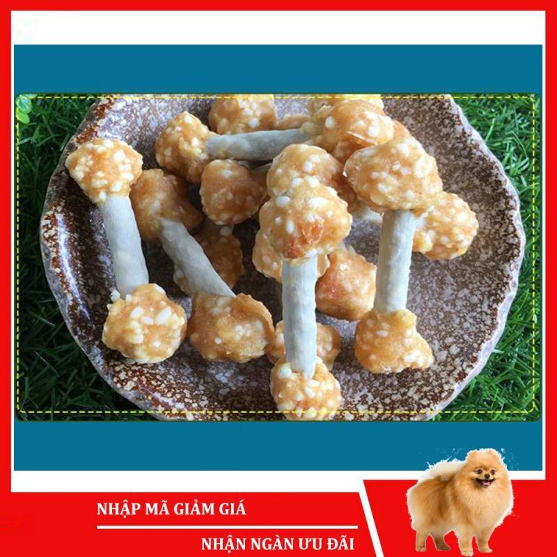 Bánh thưởng cho chó Sumiho (Thịt gà bọc 2 đầu xương sữa) (100gr/túi) Đồ ăn cho chó mèo thú cưng