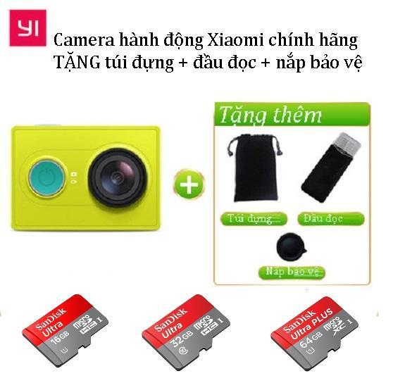 Camera hành động Xiaomi Yi Action Full HD 1080p TẶNG 3 PHỤ KIỆN kèm thẻ nhớ class10