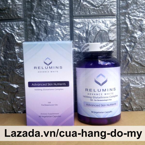 Viên uống hỗ trợ Trắng Da Glutathione  Relumins Advance White 1610mg Glutathion Complex  90 viên