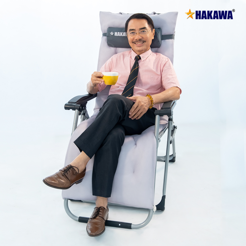 [ BẢO HÀNH 25 NĂM ] Ghế xếp thư giãn HAKAWA Nhật Bản G20T - Trọng Tải 300kg - Thay miễn phí phụ kiện nệm và lưới trong 5 NĂM - Dành cho người lớn tuổi,hoặc các bệnh nhân mắc bệnh Xương khớp cao cấp