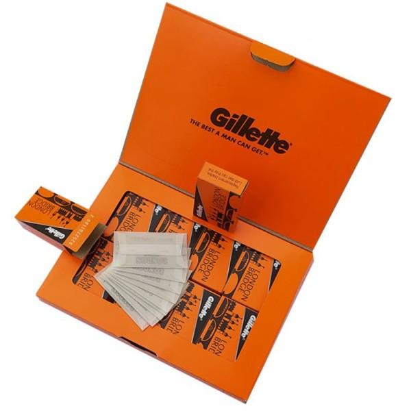Lưỡi lam Gillette London Bridge (Cam) siêu béng dành cho Barbershop 100 cái/hộp