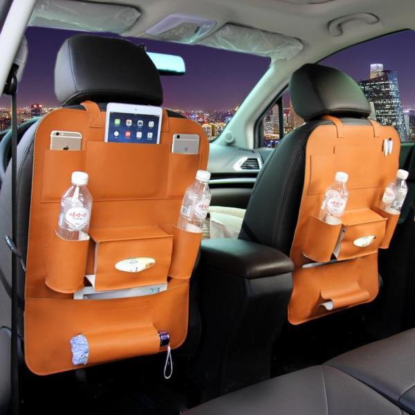 Tấm để đồ BẰNG DA đa năng sau ghế xe ô tô xe hơi tiện dụng TẶNG túi than khử mùi khi mua 1 đôi