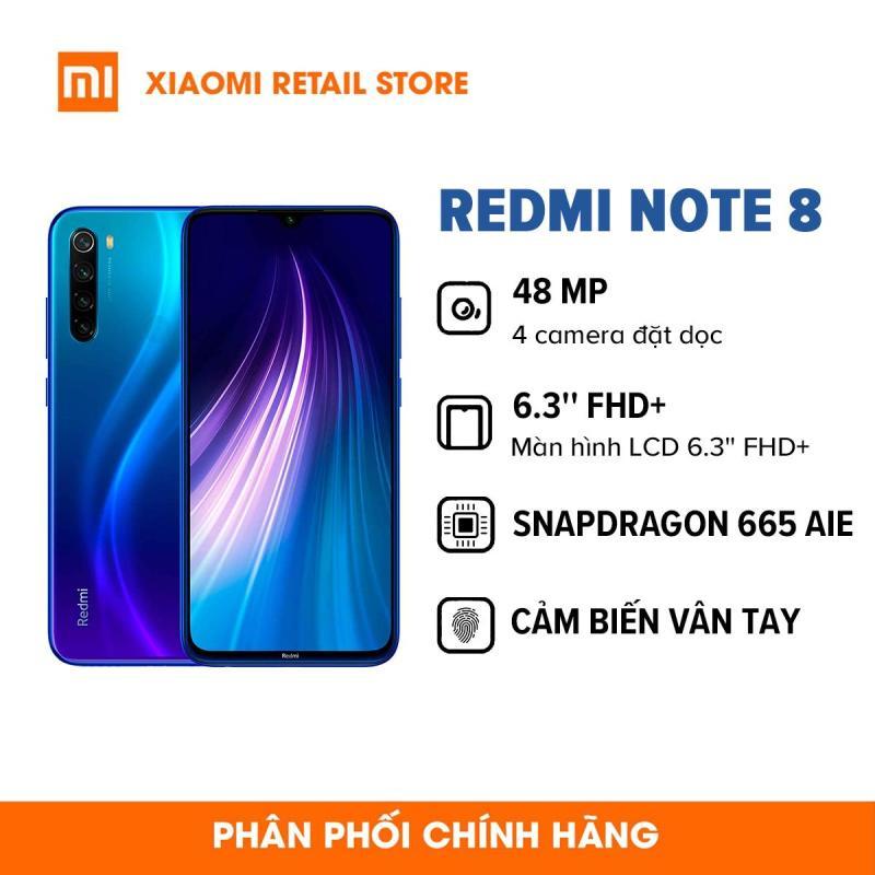 TRẢ GÓP 0%  Điện thoại Xiaomi Redmi Note 8 (3GB/32GB) Chip Snapdragon 665 8 nhân , 4 camera sắc nét,  cảm biến vân tay siêu nhạy