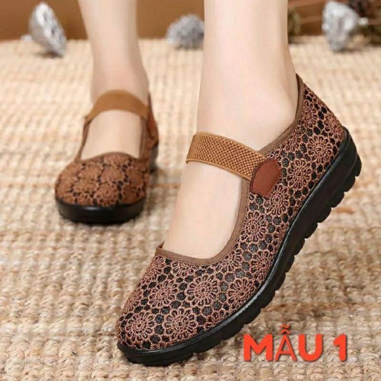 Giày lưới siêu êm giá rẻ cho mẹ, phụ nữ trung niên GR001 giá rẻ