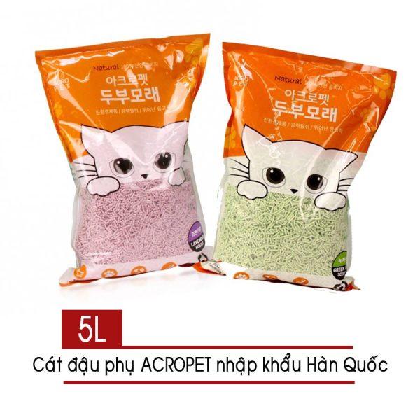 Cát vệ sinh mèo đậu phụ ACROPET 5lit