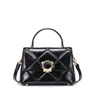 Túi đeo chéo nữ Just Star kẻ trám đen huyền bí -MG61 thumbnail