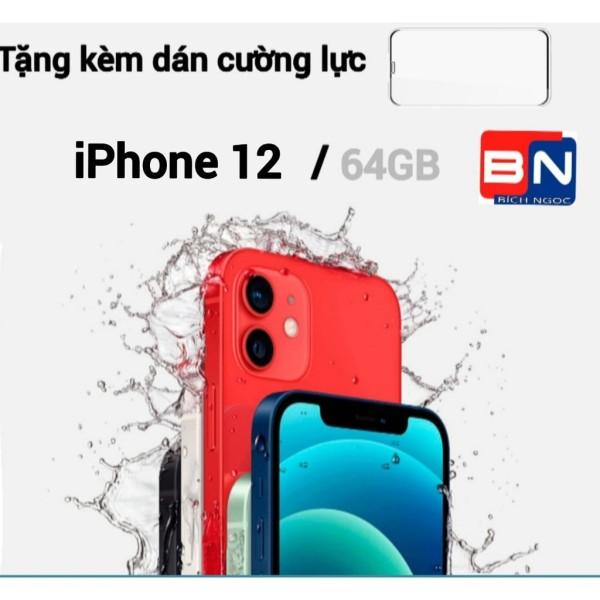 [HCM][Trả góp 0%]Điện thoại Apple iPhone 12 bản 64GB - Hàng nhập khẩu new 100% + Miếng dán cường lực