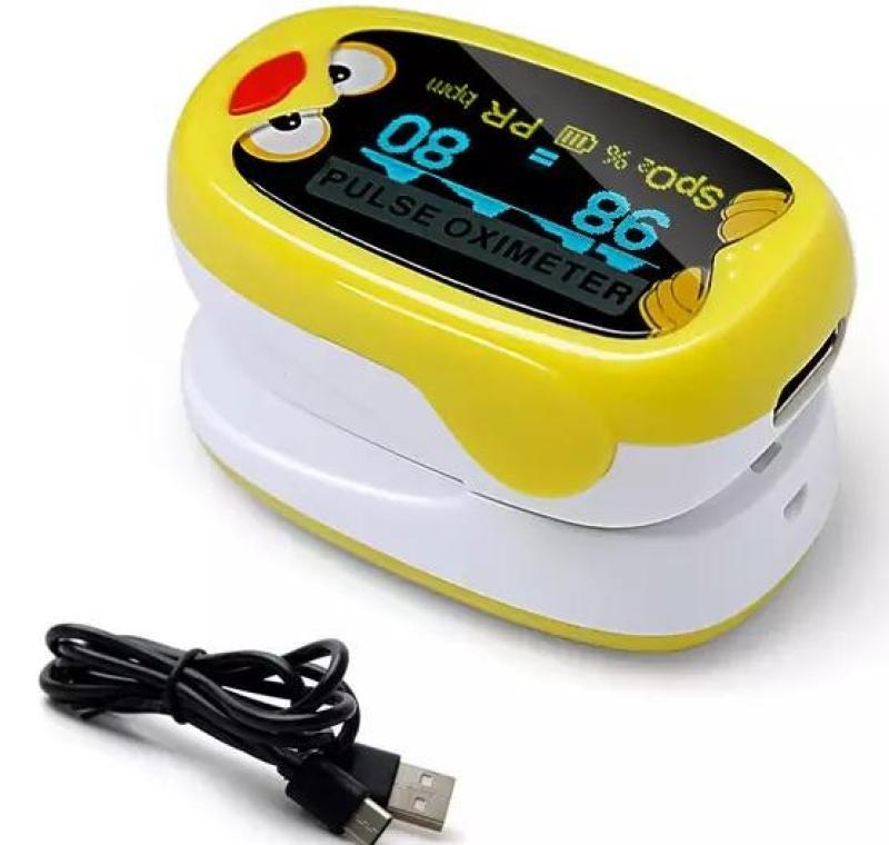 Máy Đo SPO2 Kẹp Ngón Tay Trẻ Em Có Sạt Pin PULSE OXIMETER K1 (Vàng) bán chạy