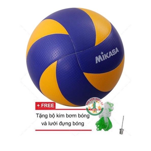 Quả bóng chuyền Mikasa MVA300 Kèm kim bơm và lưới đựng bóng ( Bóng chuyền Mikasa tiêu chuẩn thi đấu ) thumbnail