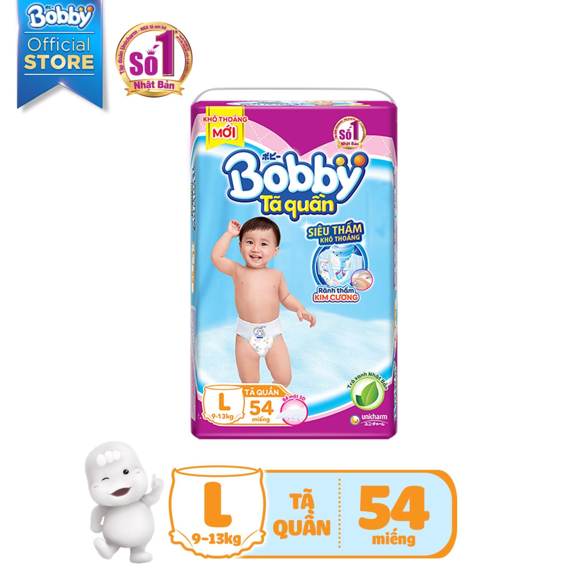 [Tiết Kiệm] Bộ 3 gói Tã/Bỉm quần Bobby L54 (9...