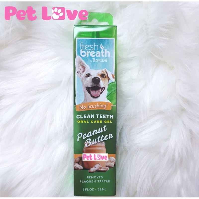 Gel vệ sinh răng miệng chó, giảm cao răng, mảng bám, mùi hôi (TropiClean, Mỹ)
