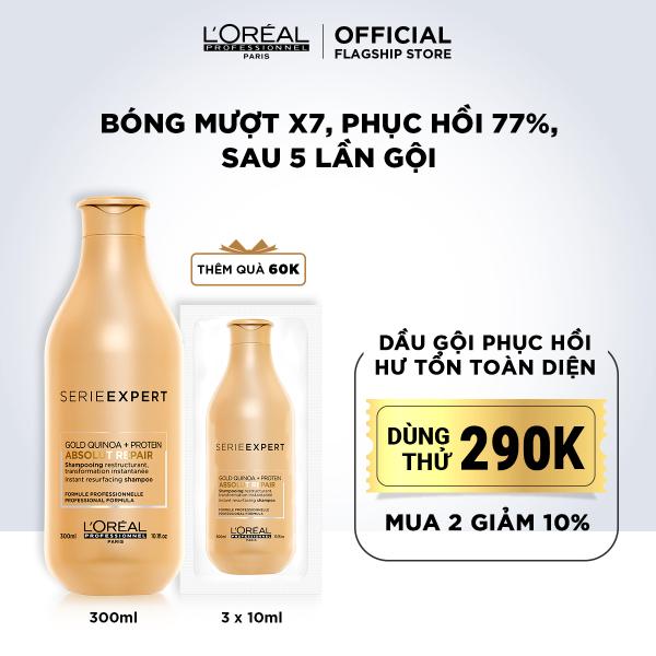 Dầu gội phục hồi hư tổn toàn diện LOréal Professionnel Serie Expert Absolut Repair Gold 300ml giá rẻ