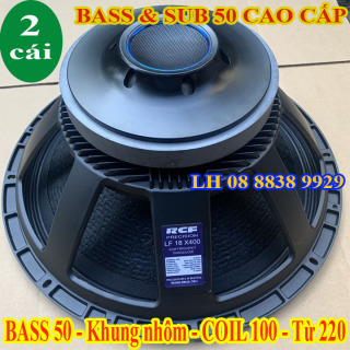 CẶP LOA BASS 50 RCF TỪ 220 COIL 100 NHẬP KHẨU CHINA - LOA BASS 5 TẤC - GIÁ 2 LOA thumbnail