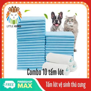 Combo 10 Miếng lót cho chó đi vệ sinh, tã giấy khay, lồng chuồng thú cưng, mèo siêu thấm hút - Little King thumbnail