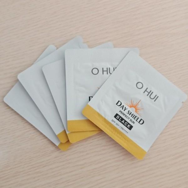 10 gói sample Kem Chống Nắng OHUI Day Shield Perfect Sun Black SPF 50+/PA++++