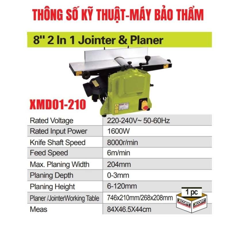 Máy bào cuốn kết hợp máy bào thẩm 1600W XCORT Máy bào gỗ bảo hành 12 tháng
