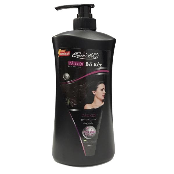 Dầu gội bồ kết Queen Love Giúp tóc suông mượt óng ả Chai 1000ml - Date 3.2024 nhập khẩu