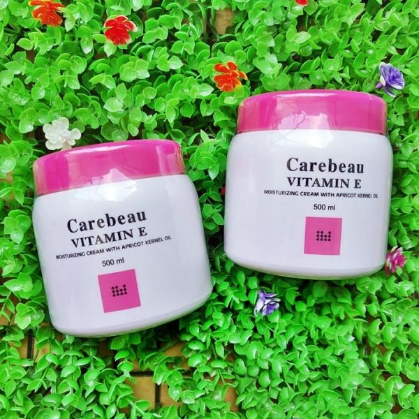 Kem dưỡng da toàn thân Vitamin E Carebeau màu hồng 500ml Thái Lan – KB227