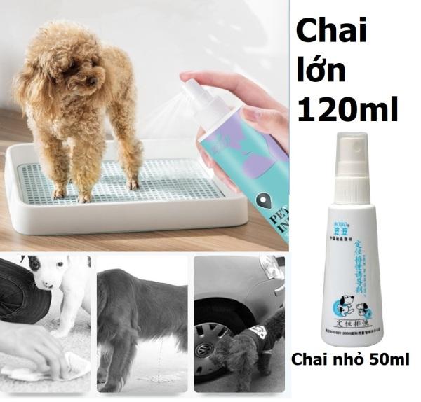 HCM (2 loại)- - Xịt hướng dẫn đi vệ sinh BoBo thế hệ mới (120ml và 50ml) hướng dẫn chó mèo vệ sinh đúng chỗ