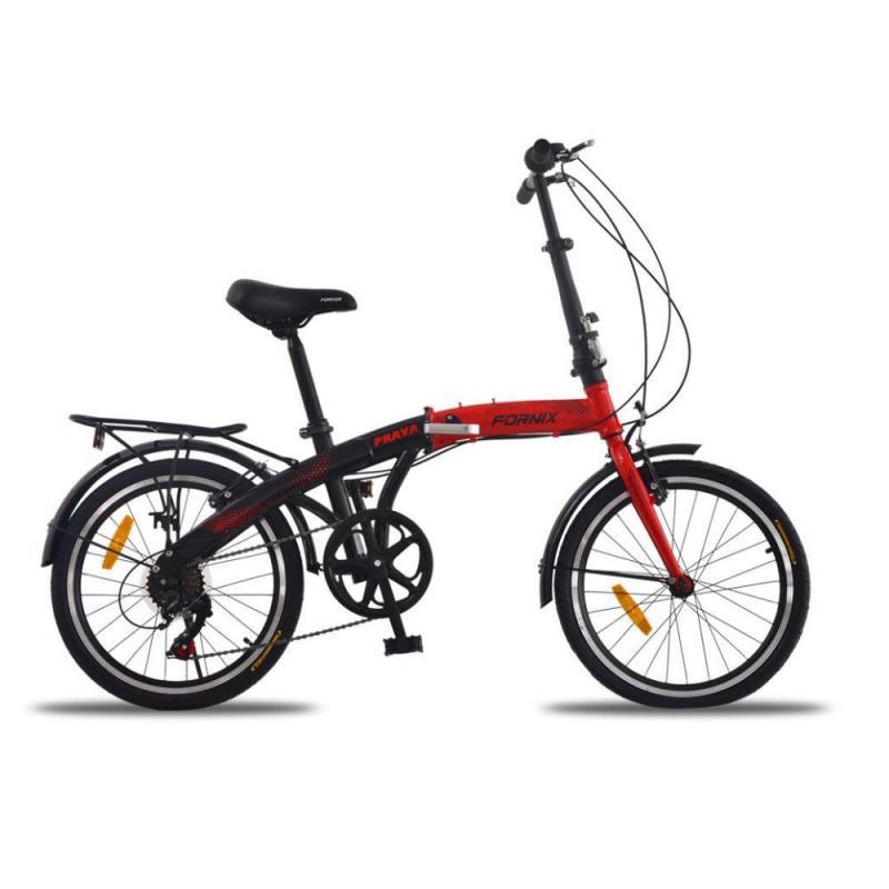 Phân phối Xe đạp gấp Prava màu đỏ đen chất ngầu
