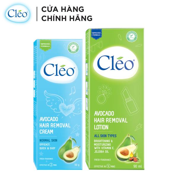 Bộ đôi kem tẩy lông Cléo da thường 50g và Lotion tẩy Lông Cléo 90ml, an toàn, không đau và đạt hiệu quả nhanh chóng