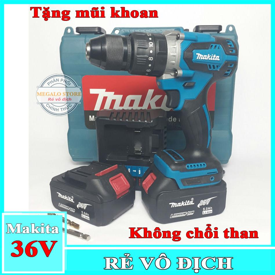 Máy Khoan Pin MAKITA 36V Búa Motor 775, Tặng kèm mũi khoan, Khoan cầm tay Megalo