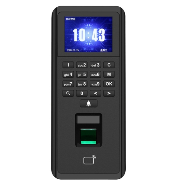 Indoor Access Control and Time Attendance TCP/IP Fingerprint Biometric IP42 Card Reader/Keypad Compatible 1000 Users