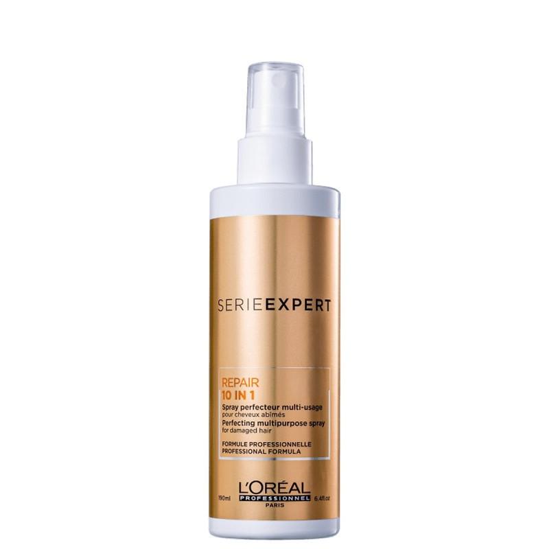 Xịt dưỡng tóc Loreal Serie Expert repair 10 in 1 spray đa năng phục hồi tóc khô hư tổn 190ml cao cấp