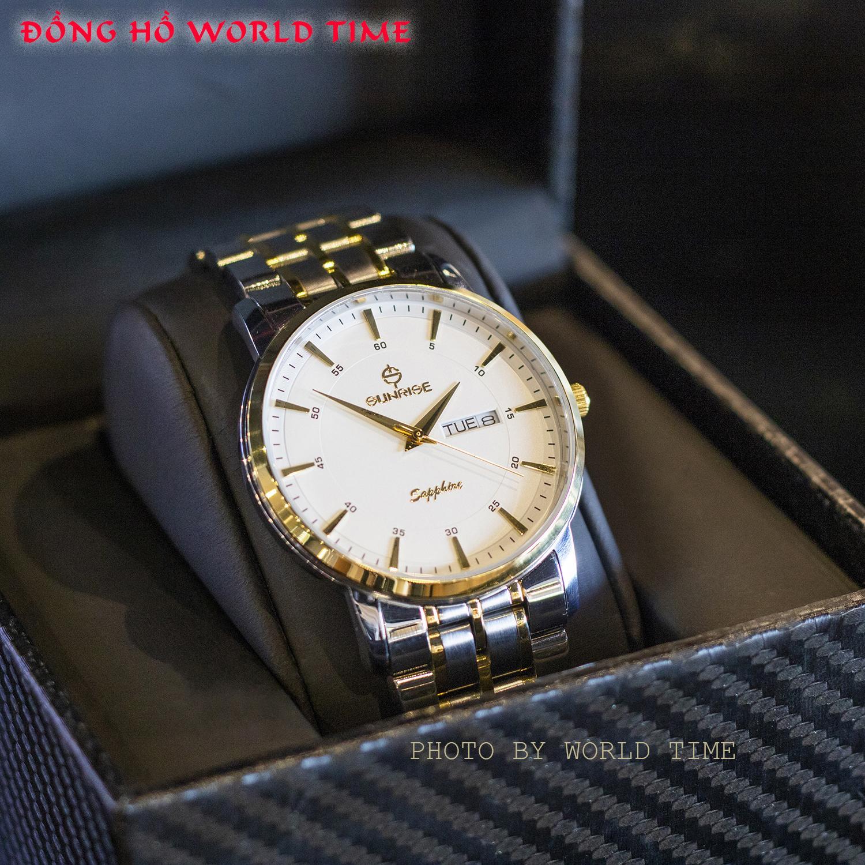 Đồng hồ Nam Chính Hãng Sunrise DM1216SWA  [Full Box + Thẻ BH 3 Năm] Kính Sapphire Chống Nước - Chống Xước - Dây Thép 316L bán chạy