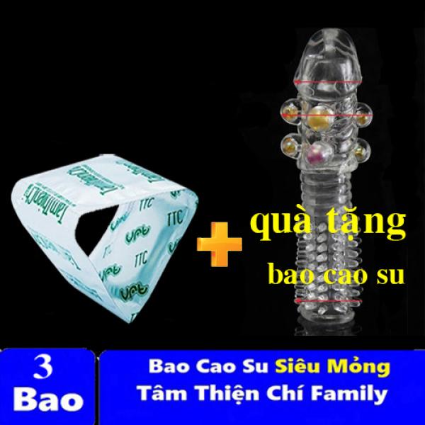 Bao cao su Tâm Thiện Chí FAMILY mỏng trơn túi chiếc TTC + Thêm Quà Tặng Bao Cao Su